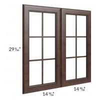 Regency Espresso 30x30 Mullion Glass Door Only with Glass Included