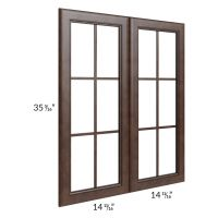 Regency Espresso 30x36 Mullion Glass Door Only with Glass Included
