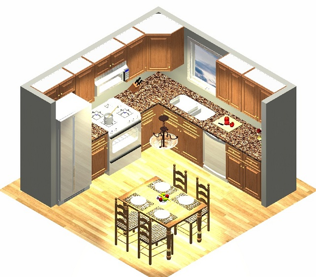 10x10 small kitchen layout the house decorating for Kitchen design 9x9