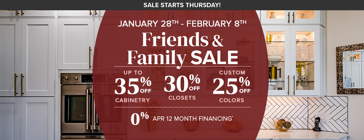 Our Annual Friends and Family Sale Is Here!